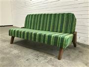 Sale 9056 - Lot 1009 - Vintage Upholstered 2 Seater Lounge (h:74 x w:157 x d:52cm)