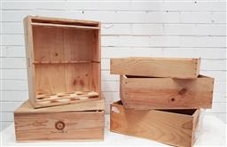 Sale 9112 - Lot 1032 - Assortment of French Timber Wine Boxes including Chateau Haut-Brion (5)