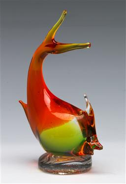 Sale 9153 - Lot 10 - An art glass fish (H:15cm)