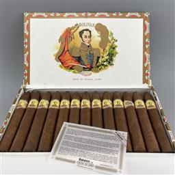 Sale 9165 - Lot 672 - Bolivar Belicosos Finos Cuban Cigars - box of 25 cigars, dated November 2019
