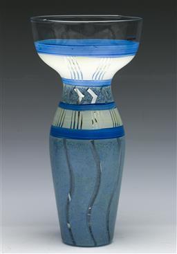 Sale 9156 - Lot 1 - A Kosta Boda art glass vase signed to base M. Backstrom (H:27cm)