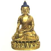 Sale 8292 - Lot 9 - Bhumyakramana-Mudra Gilded Bronze Sakyamuni Figure