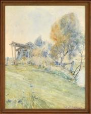 Sale 8325 - Lot 590 - John Samuel Watkins (1866 - 1942) - Country Shed 42.5 x 33.5cm