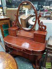 Sale 8485 - Lot 1002 - Victorian Mahogany Dressing Table, with hinged compartment, seven drawers & cabriole legs