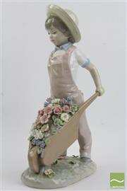 Sale 8490 - Lot 228 - Lladro Figure of Girl and Wheelbarrow