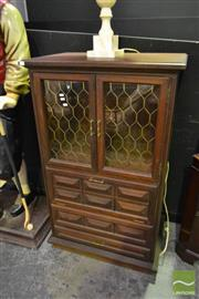 Sale 8520 - Lot 1078 - Glass Front Entertainment Cabinet