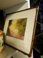 Sale 8659 - Lot 2088 - Robert Sidney Cocks - Bush Scene watercolour, 37 x 45cm, signed lower right