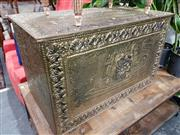 Sale 8769 - Lot 1037 - Brass Clad Trunk