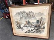 Sale 8779 - Lot 2086 - Chinese Landscape Watercolour (A/F)