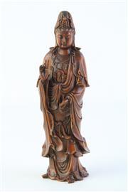 Sale 8806 - Lot 22 - A Boxwood Figure of Guanyin ( H 17cm)