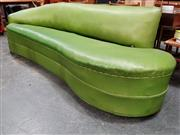 Sale 8908 - Lot 1024 - Green Upholstered Art Deco Chaise