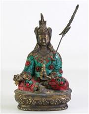 Sale 8935 - Lot 41 - A Chinese Bronze Seated Buddha (H 24cm)