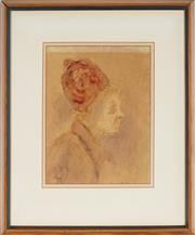 Sale 8961 - Lot 2077 - Artist Unknown (C20th) - Profile 26 x 19.5 cm (frame: 45 x 47 x 3 cm)