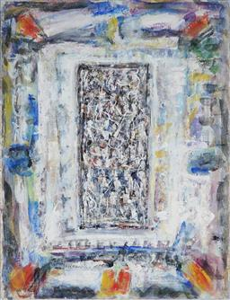 Sale 9133 - Lot 537 - Paul Partos (1943 - 2002) Untitled gouache and watercolour on paper 76 x 57.5 cm (frame: 102 x 83 x 3 cm) signed lower right