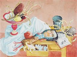 Sale 9133 - Lot 533 - Donald Friend (1915 - 1989) The Rag Doll II watercolour 56 x 76 cm (frame: 80 x 99 x 4 cm) signed and titled lower right, Provenance...