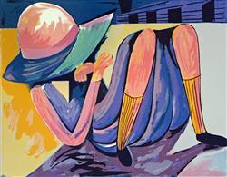 Sale 9091A - Lot 5002 - Charles Blackman (1928 - 2018) - Hiding Schoolgirl 75 x 105.5 cm (sheet)