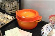 Sale 8346 - Lot 92 - Cousances French Enamelled Casserole Dish