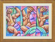 Sale 8363 - Lot 502 - Graham Borough (1943 - ) - The Three Sisters 63 x 88cm