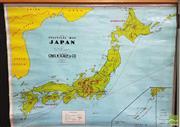 Sale 8383 - Lot 1002 - Vintage School Map of Politacal Japan