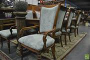 Sale 8398 - Lot 1015 - Eleven Piece Timber Dining Setting incl. Extension Table with Two Leaves & Ten Chairs, Ex David Jones