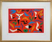 Sale 8449A - Lot 516 - John Coburn (1925 - 2006) - Carnival, 1984 71.5 x 50cm (frame size: 86 x 105.5cm)