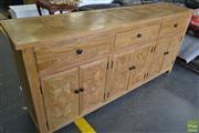 Sale 8523 - Lot 1069 - Elm Parquetry Sideboard (H 90 x L 200 x D 45cm)