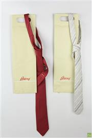 Sale 8568 - Lot 38 - Brioni Pair Of Mens Ties