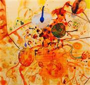 Sale 8657E - Lot 5010 - John Olsen (1928 - ) - Universe of the Sous Chef 77 x 82cm (frame: 107 x 107cm)