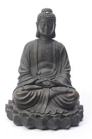 Sale 8685 - Lot 28 - Composite Form Seated Buddha Figure (H 37cm)