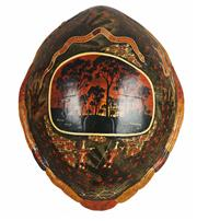 Sale 8758 - Lot 30A - Turtle shell - Painted by W. Conlon - 100x80cm -