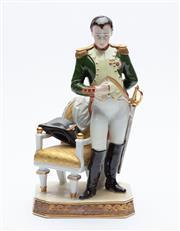 Sale 8873A - Lot 6 - A German porcelain figure of Napoleon