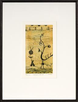 Sale 9125A - Lot 5033 - Christina Cordero (1938 - ) - Samson & Dalila 20.5 x 11.5 cm (frame: 44 x 34 x 1 cm)
