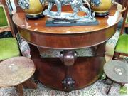 Sale 8480 - Lot 1086 - Timber Demi Lune Hall Table