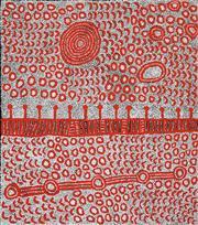 Sale 8526 - Lot 530 - Yinarupa Nangala (c1955 - ) - Ngaminya 111 x 98cm