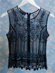 Sale 8577 - Lot 97 - A 1920s style silk beaded top featuring beautiful beaded and sequin detail, size 10, Condition: Very Good