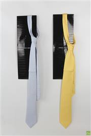 Sale 8568 - Lot 95 - Georgio Armani Mens Ties (2)