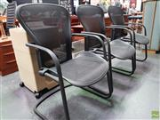 Sale 8585 - Lot 1033 - Set of Three Herman Miller Webbed Reception Chairs