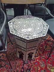 Sale 8648C - Lot 1038 - Mother of Pearl Inlaid Octagonal Top Side Table