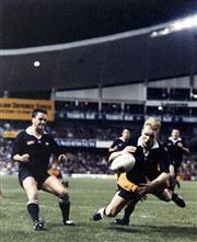 Sale 8754A - Lot 1 - Australia 'Wallabies' vs New Zealand 'All Blacks', Bledisloe Cup Test Sydney 1994 - 'That Tackle' George Gregan tackles Jeff Wils