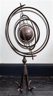 Sale 8761A - Lot 11 - An Armillery sphere in rustic finish H x 102cm