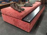 Sale 8822 - Lot 1758 - Large Red Lift Top Ottoman