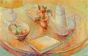 Sale 8992 - Lot 537 - Jean Appleton (1911 - 2003) - Still Life With Fruit Bowl & Teapot 70 x 109.5 cm (frame: 79 x 120 x 5 cm)