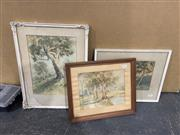 Sale 9004 - Lot 2094 - Group of (3) Early Australiana Watercolours by Alex N Brodie, framed/various sizes