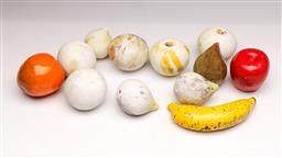 Sale 9107 - Lot 60 - A Collection of Ceramic, Terracotta and Stone Faux Fruit Decorations