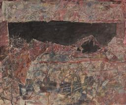 Sale 9133 - Lot 527 - Eric Smith (1919 -2017) Landscape, 1965 mixed media on board (AF) 151 x 174 cm (frame: 156 x 179 x 5 cm) signed and dated lower right