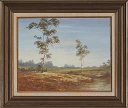 Sale 9139 - Lot 2016 - Geoff McKenzie (1936 - ) - Creek Near Ballarat 29 x 37 cm (frame: 45 x 51 x 4 cm)