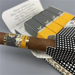 Sale 9165 - Lot 662 - Cohiba Exquisitos Cuban Cigars - pack of 5 cigars, removed from box dated February 2018