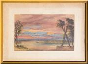 Sale 8368A - Lot 3 - Artist Unknown - Untitled (Sunset)	 31 x 51 cm