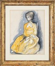 Sale 8449A - Lot 539 - Louis Valtat (1869 - 1952) - Stizendo Junge Frau 32.5 x 25cm