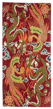 Sale 8536A - Lot 9 - A Tibetan Wool Dragon Design Carpet Nepal 190cm x 93cm RRP $1,499.00